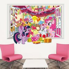 3D Window My Little Pony Wall Sticker Mural Decal for Kid Child Room Decor Vinyl