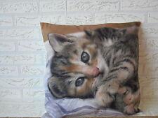 Kissenhülle, Kissenbezug, Dekokissen, Fotodruck Katze  40x40 cm