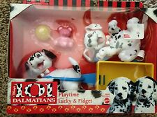 Disney 101 Dalmatians Playtime Lucky & Fidget Play Set & Accessories NEW Vintage