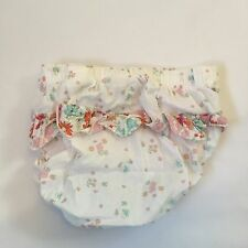 White frilly floral ruffled over nappy covers Baby girls clothes 3-6 Months