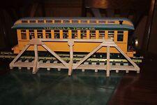 """G gauge scratch built solid oak wood trestle bridge 19 3/8""""  Waterproof glue"""