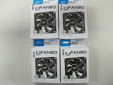 4x DEEPCOOL XFAN 80mm Case Fan - Molex power - Screws - Hydrobearing