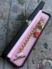"Beautiful Boxed Original & Authentic ""Juicy Couture"" Gold Plated Charm Bracelet"