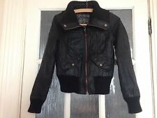 New Look Black Leather Jacket Used Condition Size 8