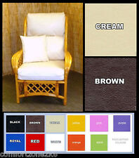 REPLACEMENT CUSHION COVERS CANE RATTAN WICKER CONSERVATORY GARDEN FURNITURE pvc