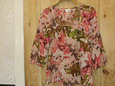 Monsoon beautiful floral/leaf tunic.size 10.vgc.