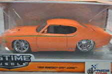 1:24 Jada 1969 Pontiac GTO Judge Orange BTM Diecast model
