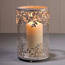 WEDDING PILLAR GOLD/WHITE TEA LIGHT CANDLE HOLDER DECORATIVE HOME