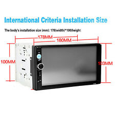 2Din Car Radio MP5 Player 7'' Screen HD Touch Bluetooth SD USB Phone Stereo Auto