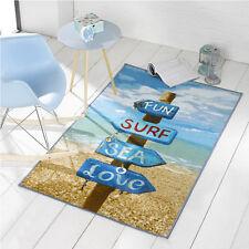 Surf, Sea, Fun Beach Sign Rug 100 x 160 cm
