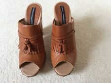 French Connection Leather Open Toe Mules Size 39