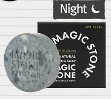 [April Skin] Magic Stone Face Whitening 100% Natural Cleansing Soap [100g]
