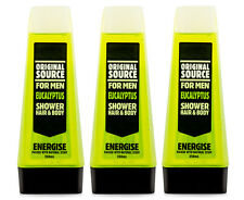 3 x Original Source Shower Gel For Men Eucalyptus 250mL