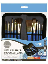 Daler Rowney Artist Brush Zip Up Case & 10 Paint Brushes for Watercolour