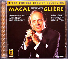 Zdenek MACAL: GLIERE Symphony No.2 The Red Poppy DELOS CD Sinfonie Audiophile