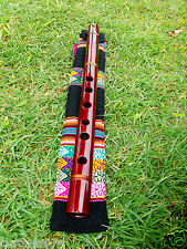 NATIVE AMERICAN FLUTE & INDIGENOUS TEXTILE HANDMADE CASE TUNED IN (G) NEW