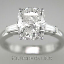 1.30ct Certified D IF VG Diamond Ring Cushion Cut Platinum Engagement Ring
