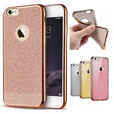 New Rose Gold Bling Glitter Detachable Ultra Thin TPU Silicone Case For iPhone 7