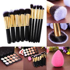 15 Colors Contour Concealer Palette+Makeup Foundation Sponge+10Mini Powder Brush