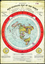 Flat Earth Map  Gleasons 1892 map  New Standard Map of the World*