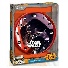 Disney Star Wars 'Vader' 25 cm Bedroom Wall Time Clock Brand New Gift