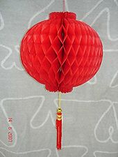CHINESE L 24cm RED PVC PALACE LANTERN WEDDING BIRTHDAY GARDEN NEW YEAR PARTY