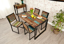 Urban Chic Dining Table. 4 Seater. Reclaimed Wood with Metal Frame