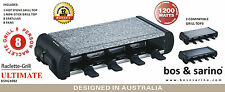 BOS & SARINO Party Raclette Grill Japanese Teppanyaki BBQ 8 Person 2 Cook Tops