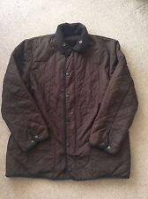 Men's Brown Fleece Lined Barbour Jacket - Size L