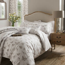 Kew gardens Butterflies natural double fitted sheets 100% cotton percale
