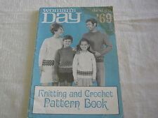 Vintage 1969 Woman's Day Knitting and Crochet Pattern Book
