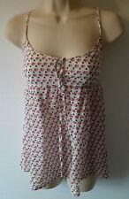 ZARA strappy summer top UK 4 US 2 cotton silk