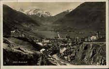 Andermatt Uri Schweiz AK 1930 mit Briefmarke Gesamtansicht Panorama mit Gebirge