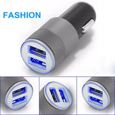 Universal 2.4A Dual USB Twin Port 12V In Car Lighter Socket Charger Adapter plug