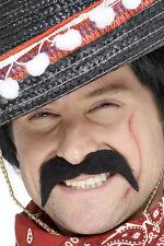 Mexikanischer Bandit Schnurrbart schwarz NEU - Karneval Fasching Bart Verkleidun
