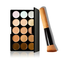 15 Colors Contour Face Cream Makeup Concealer Palette + Powder Brush