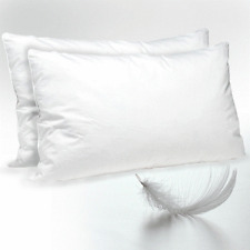 PAIR Of PREMIUM LUXURY GOOSE FEATHER AND DOWN PILLOWS 85% GOOSE AND 15% DOWN