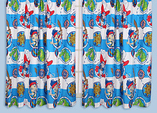 """DISNEY JAKE AND THE NEVERLAND PIRATES DOUBLOONS CURTAINS 66"""" x 72"""" READY MADE"""