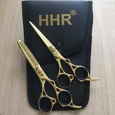 """Professional Barber Hairdressing Scissors Shears Hair Cutting Thinning Gold 6.5"""""""