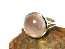 ROSE   QUARTZ    Sterling  Silver  925  RING   -   Size N  -   Gift  Boxed!