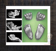 Shadowbox photo frame &  Baby 3D Casting Kit  #3T2Y