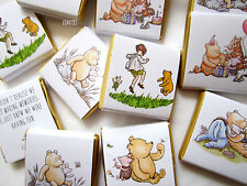 Personalised Chocolates Winnie The Pooh party favour birthday candy bar 25 pcs