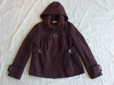 Target Hot Options Brown Winter Coat With Removable Hood Women's Size 8