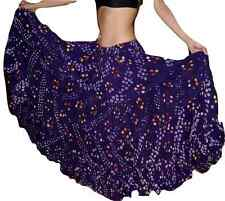 25 YARD PURPLE POLKA DOT HIPPIE INDIAN COTTON BOHO GYPSY BELLY DANCING SKIRT