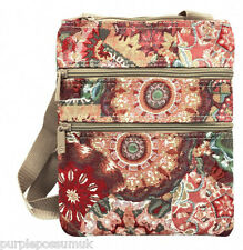 Travel Wallet Ladies Small Red Floral Crossbody Shoulder Bag Across Body Signare
