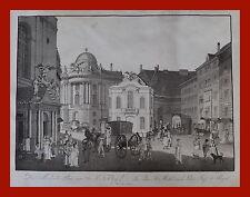 Kupferstich um 1800 -  Michaelis Platz in Wien  (# 3876)