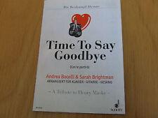 Time to say goodbye für Klavier/Gitarre/Gesang  Einzelausgabe