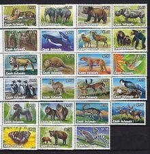 Cook-Inseln 1992-93 Gefährdete Tiere I-IV. 23 Werte ** / Animals MNH