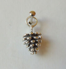 PINE CONE PINECONE 3D CHARM 925 STERLING SILVER