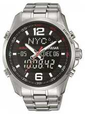 Pulsar Mens WRC Alarm Stainless Steel Black Dial PZ4001X1 Watch - 8% OFF!